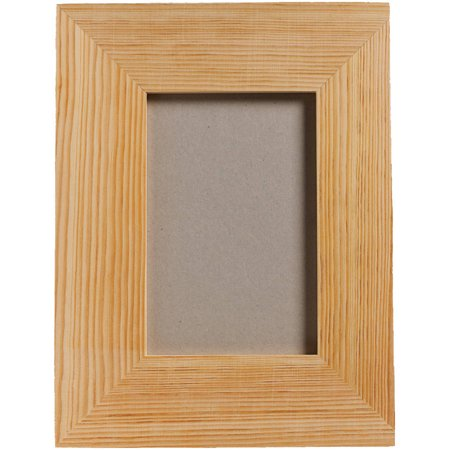 plaid wood medium memory frame with easel back