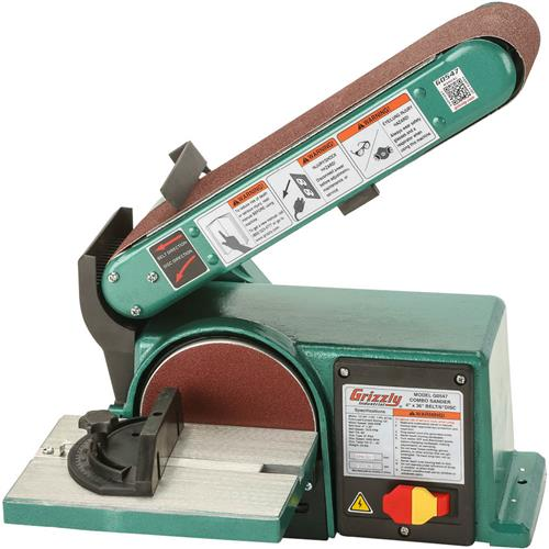 Grizzly G0547 Combo Sander 4-Inch X 36-Inch Belt 6-Inch Disc