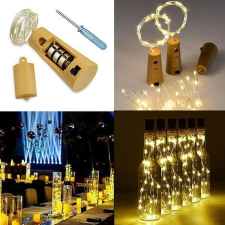Wine Bottle Lights, EEEKit 3-Pack 20 LED 6.6ft Wine Bottle Cork Lights Fairy Starry String Light Indoor Outdoor Decoration Lamp for Party Home Garden Wedding, Warm White ()