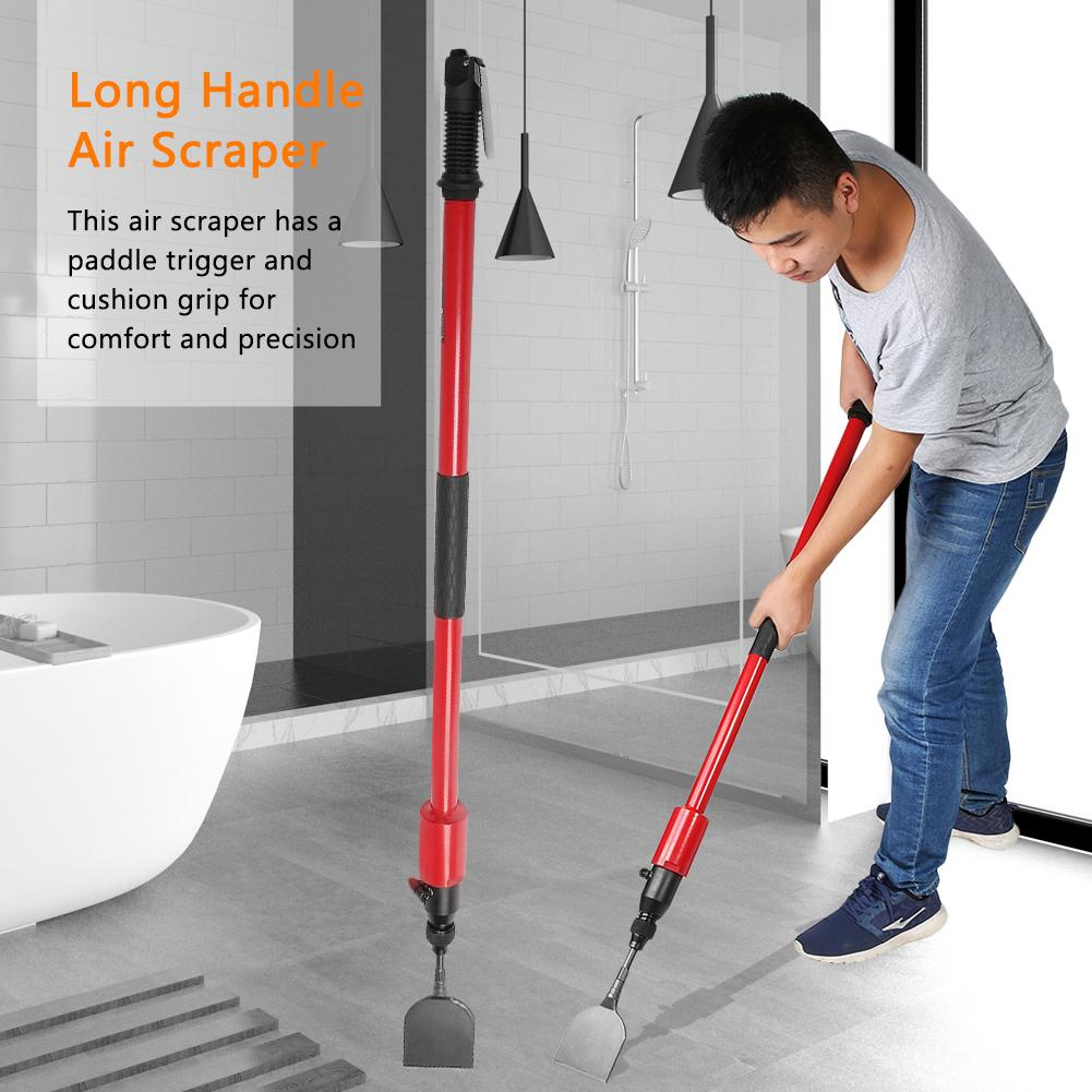 Yosoo Long Reach Pneumatic Air Steel Scraper for Removing Floors Glue of Kitchen Bathroom, Long Handle Air Scraper, Long Reach Pneumatic Scraper