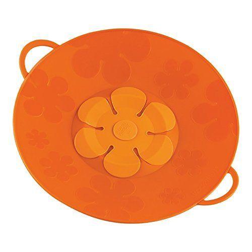 Kuhn Rikon Kochblume Spill Stopper, 11-Inch, Orange