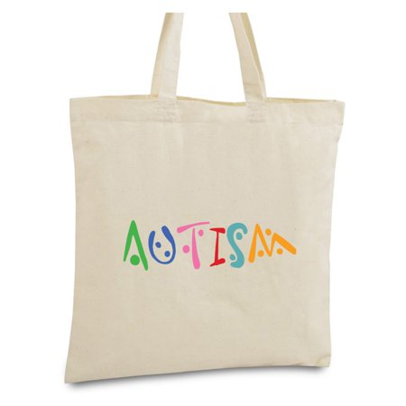 Awkward Styles Autism Tote Bag for Men and Women Autism Awareness Reusable Cotton Bag Autism Shopper Tote Bag Autism Awareness Products Autism Canvas Tote Bag Autism Bag Gifts for Him and Her