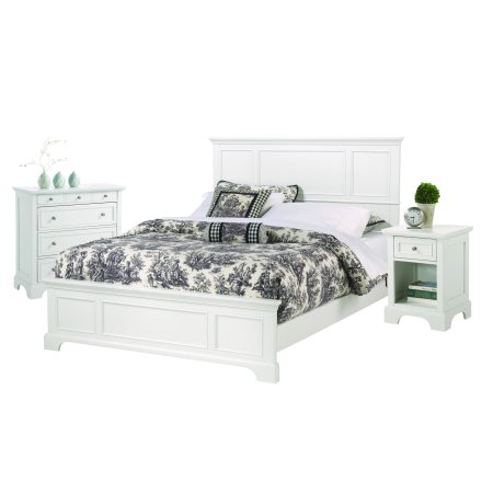 Home Styles Naples White Queen Bed Nightstand And Chest