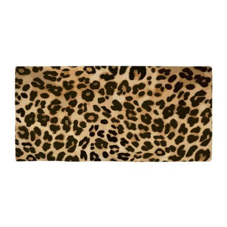 """CafePress - Leopard Gold/Black Print - Large Beach Towel, Soft 30""""x60"""" Towel with Unique Design"""