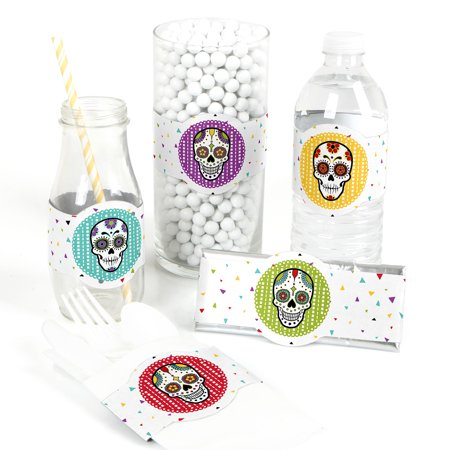 Day Of The Dead - DIY Party Supplies - Halloween Sugar Skull Party DIY Party Favors & Decorations - Set of 15 - Diy Pinata Halloween