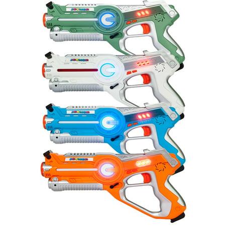 Ktaxon Infrared  Laser Tag Gun Set of 4 Pack Kids Toy Blasters Multiplayer Mode Indoor