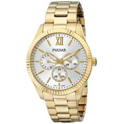 Womens Business Collection Japanese Quartz Silver Dial Gold Watch - PP6140