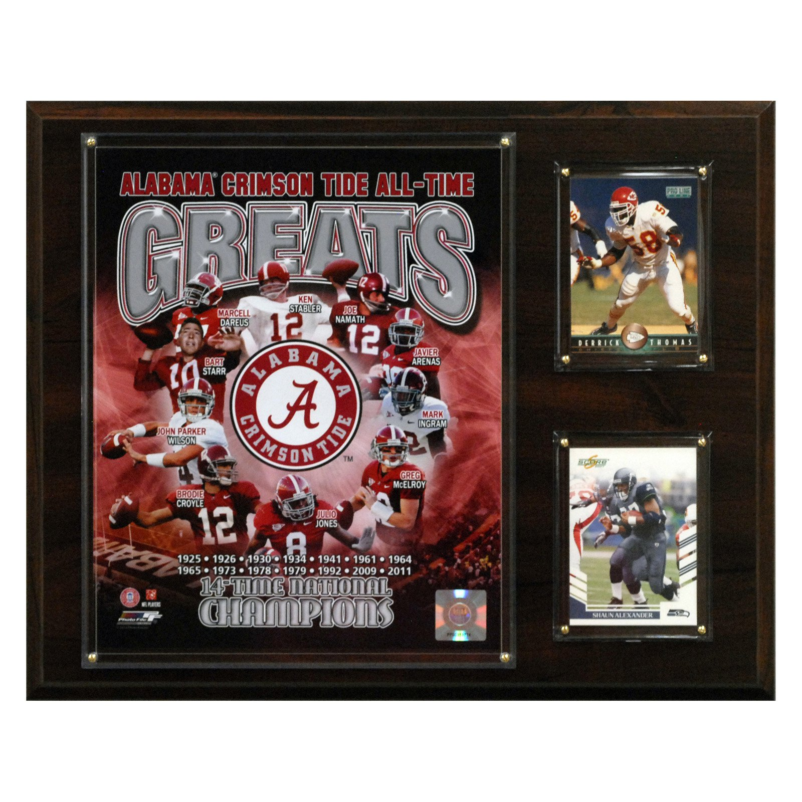 NCAA Football 12 x 15 in. Alabama Crimson Tide All-Time Greats Photo Plaque