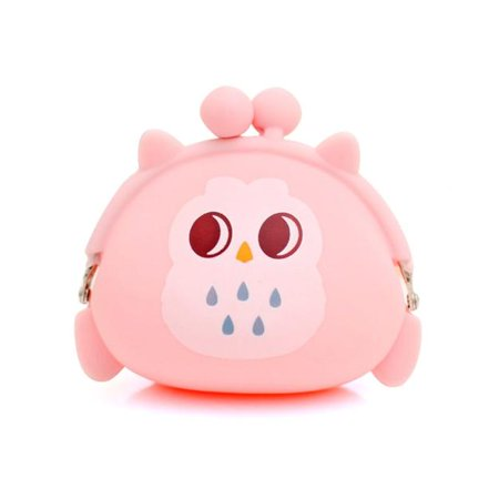 - DZT1968 Women Owl Silicone Jelly Wallet Change Bag Key Pouch Coin Purse
