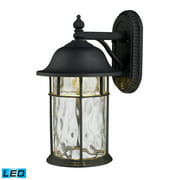 Lapuente 1-Light Outdoor Wall Lamp in Matte Black - Integrated LED