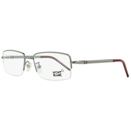 fe2c7175615 Montblanc Semi-Rimless Eyeglasses MB440 008 Size  55mm Gunmetal Burgundy  440 - Walmart.com