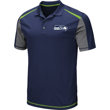 - Men's Majestic College Navy Seattle Seahawks Draft Prize Polo