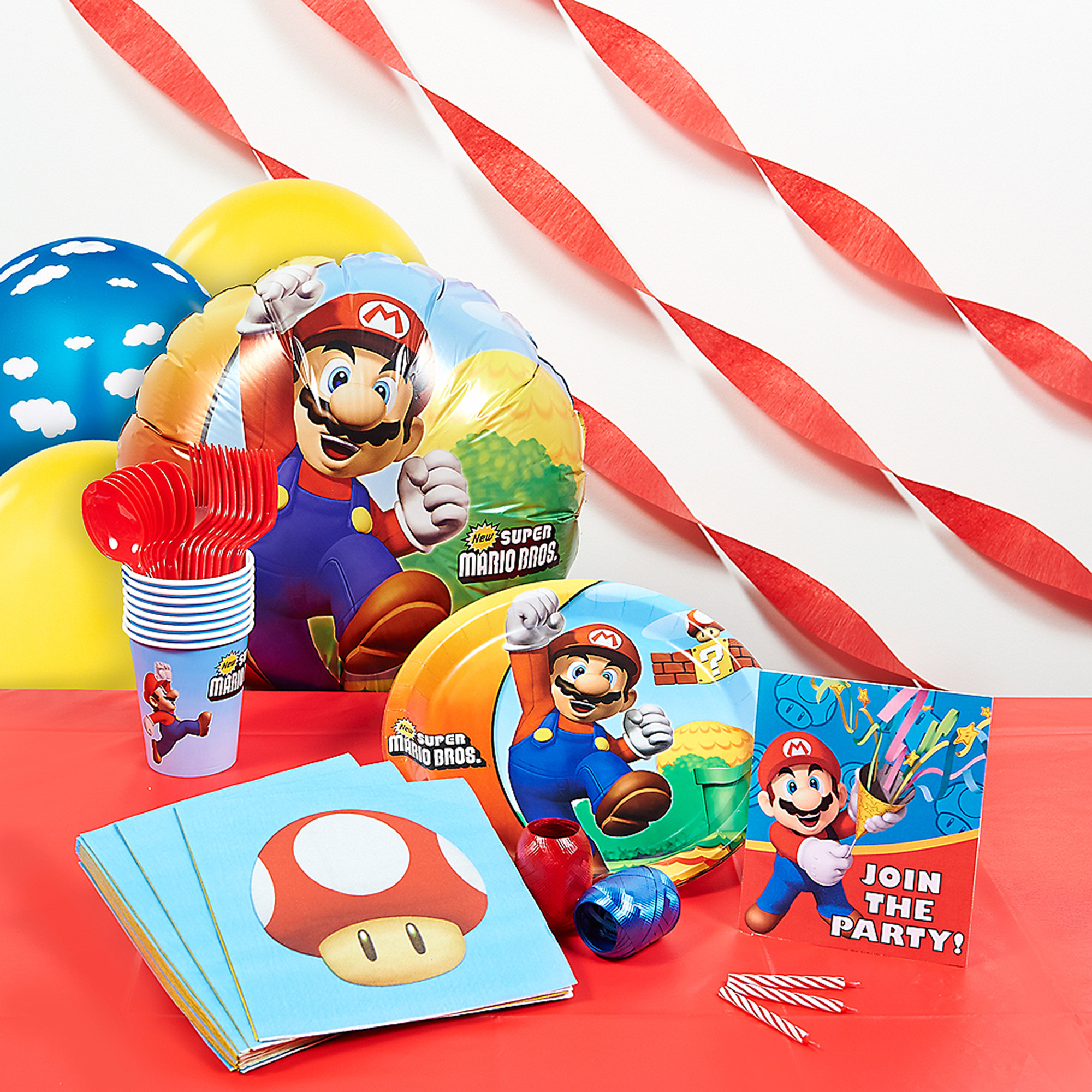 Super Mario Bros Deluxe Party Kit