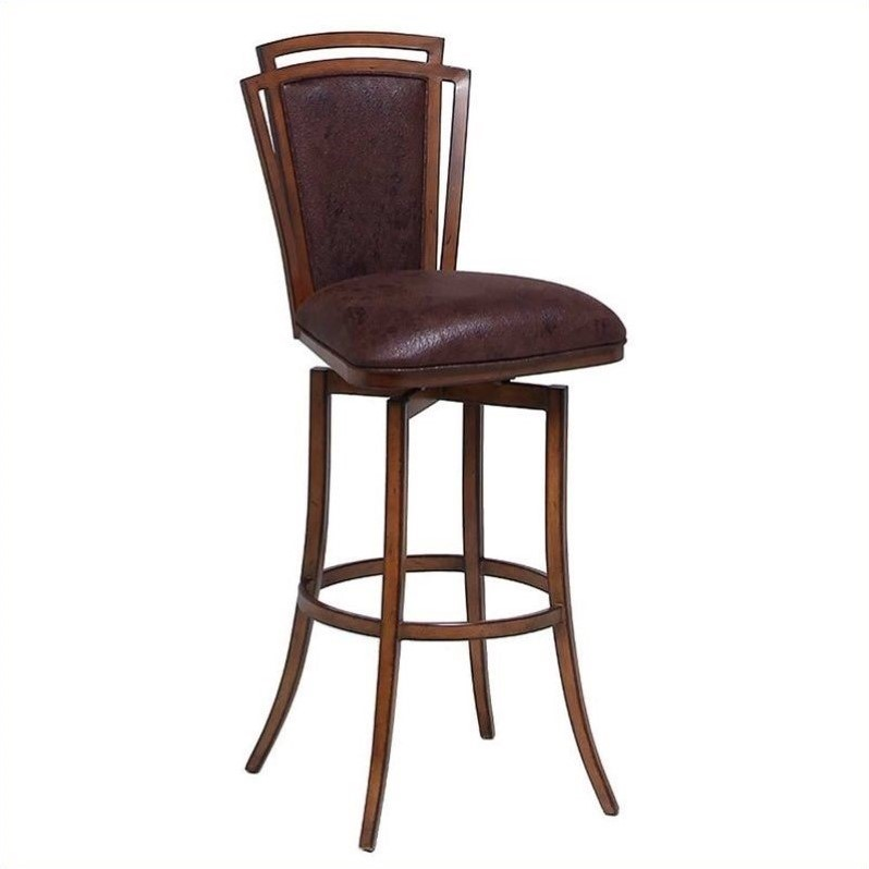"Pastel Furniture Citrus Grove 27.25"" Swivel Bar Stool in Chocolate by Pastel Furniture"