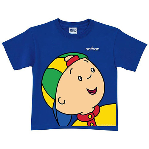 Personalized Caillou Close-Up Royal Blue Boys' T-Shirt