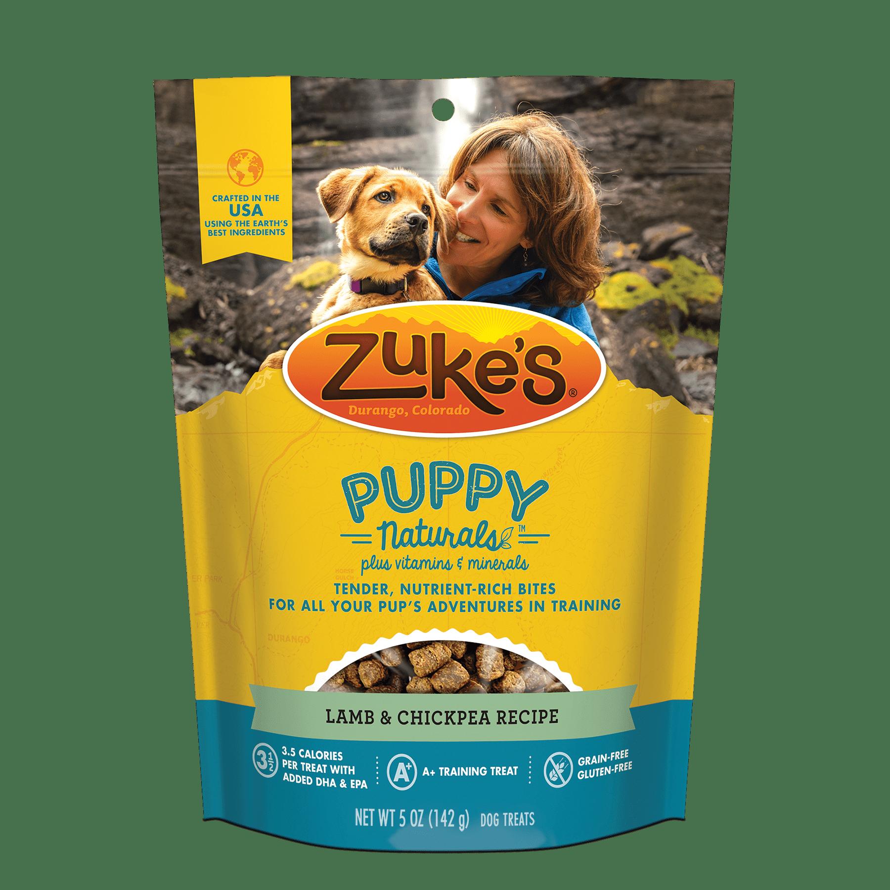 Zuke's Puppy Naturals Lamb & ChickPea Recipe Dog Treats, 5 Oz