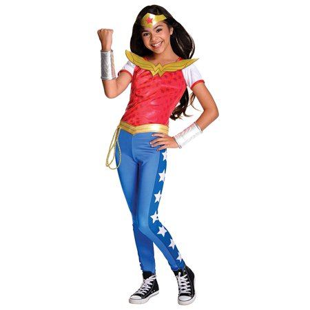 Costume Kids DC Superhero Girls Deluxe Wonder Woman Costume, Small, NOTE: Costume sizes are different from clothing sizes; review the Rubie's size chart when.., By Rubie's
