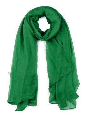 Soft Lightweight Long Scarves With Solid Color Shawl For Women and Men