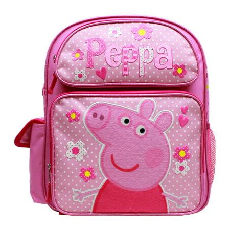 Medium Backpack   Peppa Pig   Pink Flowers 14  School Bag New Pi30306