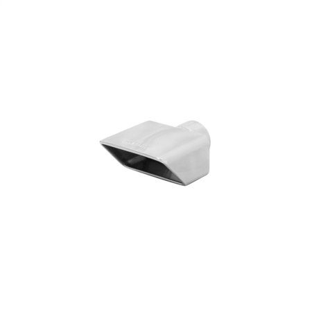 Flowmaster - 15354 - Exhaust Tip - 3.0 x 5.5 rolled edge, Fits 2.50 in.-Weld on