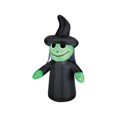 Inflatable 4' Outdoor Witch Yard Decoration (Inflatable Halloween Decorations Yard)
