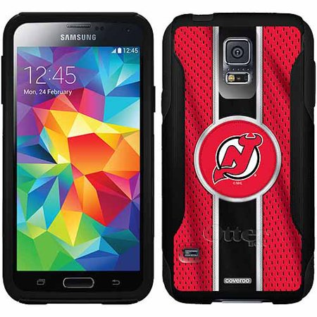 New Jersey Devils Ipod Skin (New Jersey Devils Jersey Stripe Design on OtterBox Commuter Series Case for Samsung Galaxy S5 )