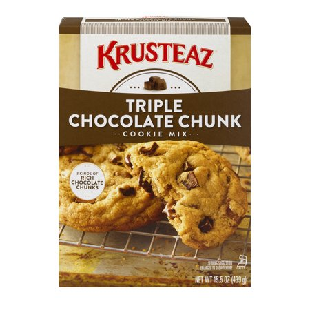 (3 Pack) Krusteaz Bakery Style Cookie Mix, Triple Chocolate Chunk, 15.5oz Box