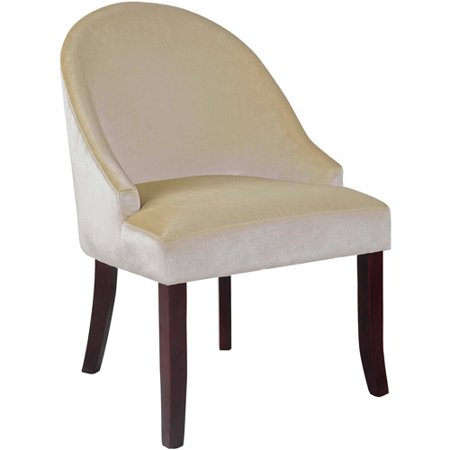 CorLiving Antonio Velvet Accent Chair, Soft Cream