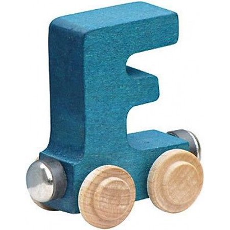 Letter Wood Name Train - Name Train - Bright Color Childrens Wooden Trains Letter F
