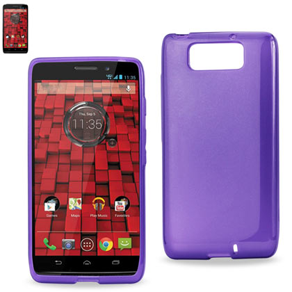 Polymer Case Contains Pearl Powder+Tpu Motorola Droid Maxx Xt-1080M Purple