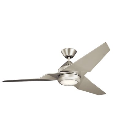 Indoor Ceiling Fans 1 Light With Brushed Nickel Finish Steel LED 60 inch 17  Watts