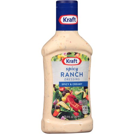 Kraft Taco Bell Spicy Ranch Dressing & Dip, 15.8 fl oz - Walmart ...