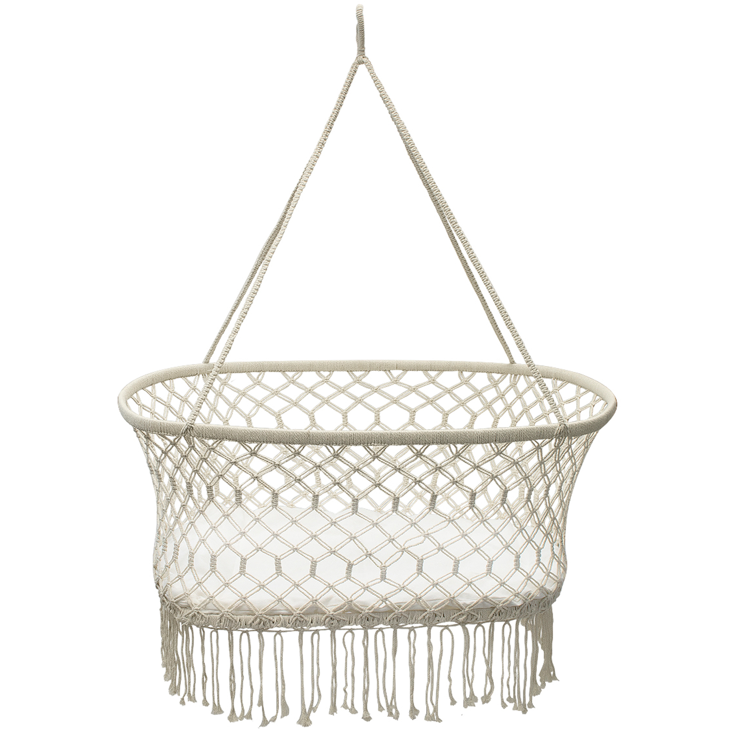 Sorbus Baby Crib Cradle, Hanging Bassinet and Portable Swing, , Off White