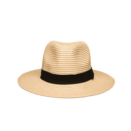 Women's Wide Brim Fedora Hat Spring Summer (Wide Brim Fedora)