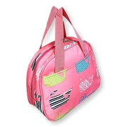 Fashion Print Insulated Water Resistant Round Small Lunch Cooler Pink Whale