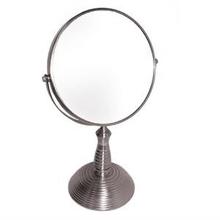 Handle Full Length Reinforcement Rib - 7x with Rib Design Nickel Stand Mirror