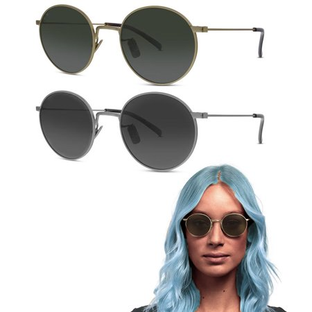 1X John Lennon Sunglasses Round Hippies Shades Retro Vintage Style Glasses UV100 (Hippie Shades)