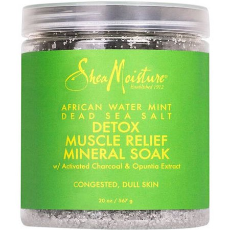 SheaMoisture African Water Mint Dead Sea Salt Detox Muscle Relief Mineral Soak, 20 - Relaxing Sea Soak