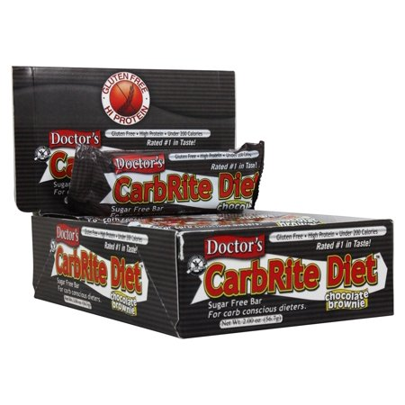 Doctor's CarbRite Diet Bar, Chocolate Brownie, 21g Protein, 12 Ct ()