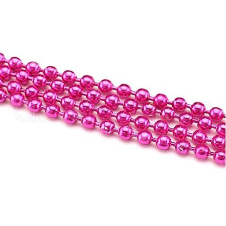 5 Pack - CleverDelights Ball Chain Necklaces - 28
