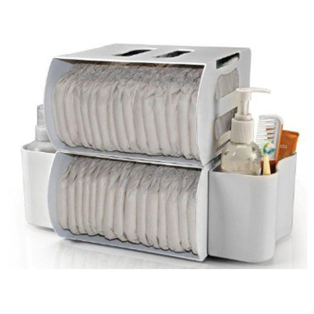 Prince Lionheart 2-in-1 Diaper Depot - White