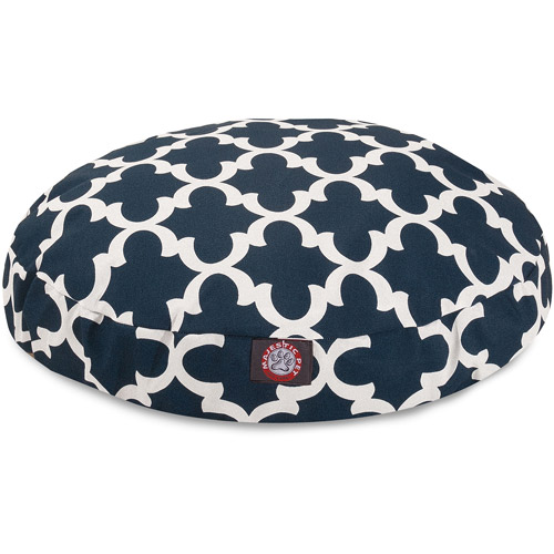 Majestic Pet Navy Trellis Small Round Pet Bed