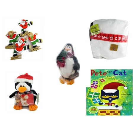 Christmas Fun Gift Bundle [5 Piece] - Set of 4 Wooden Clothes Pin Ornaments - Splendid! By Nygala 40