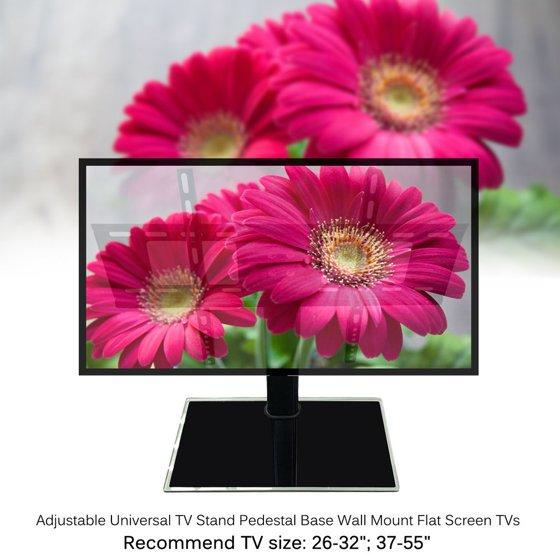 37-55 inch Adjustable Movable Folding Universal TV Stand Pedestal ...