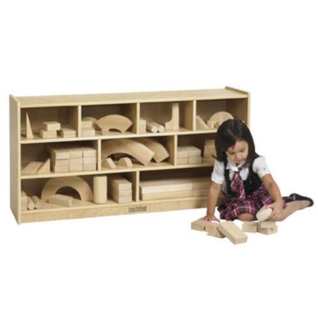 Early Childhood Resources ELR-17201 Wooden Block Storage Cabinet Medium by Early Childhood Resource