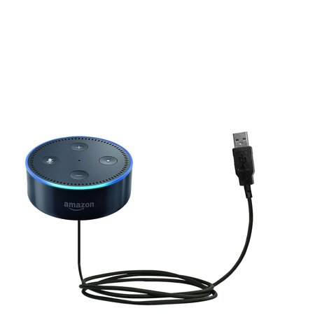 Classic Straight USB Cable suitable for the Amazon Echo Dot with Power Hot Sync and Charge Capabilities - Uses Gomadic TipExchange