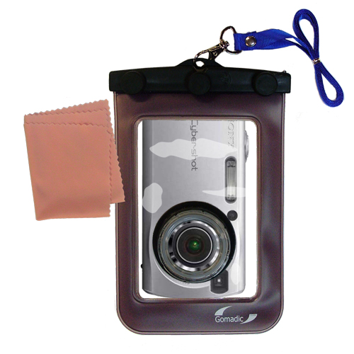 Gomadic Waterproof Camera Protective Bag suitable for the Sony Cyber-shot DSC-S40 - Unique Floating Design Keeps Camera Clean and Dry