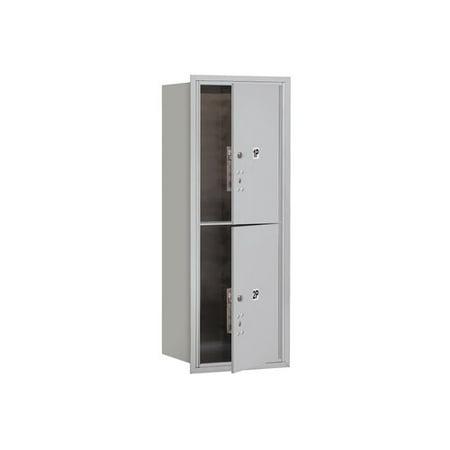 Aluminum Letter Locker Mailbox (Salsbury Industries Recessed USPS Aluminum 2 Unit 4C Horizontal Parcel Locker )