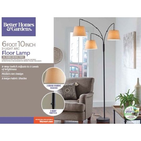 - BETTER HOMES AND GARDENS 3 HEAD ARC FLOOR LAMP