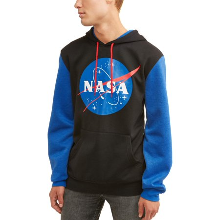 83b5a5fbf1a4 Pop Culture - NASA Men s Licensed Color Block Long Sleeve Graphic ...